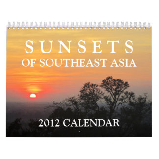 Sunsets of Southeast Asia 2012 Calendar