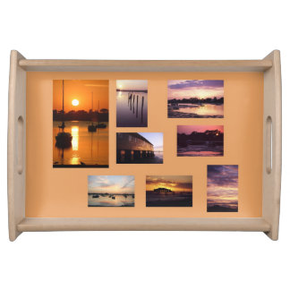Sunsets serving tray