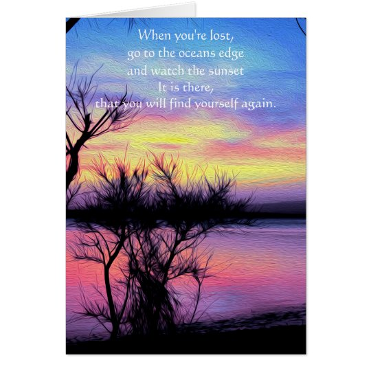 Sunsets Without You Card