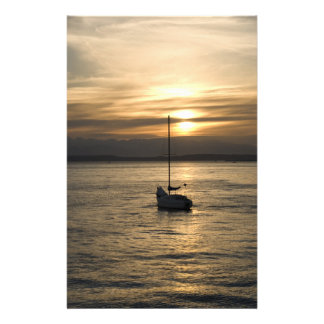 SunsetSailboat051709 Stationery