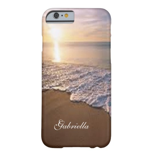 Sunsetting Beach With Ocean Scene Phone Case