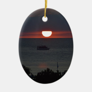 Sunsetting over Lake Michigan Christmas Ornament