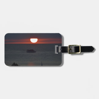 Sunsetting over Lake Michigan Tags For Luggage