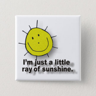 sunshine 15 cm square badge