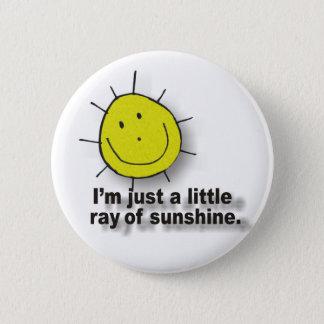 sunshine 6 cm round badge