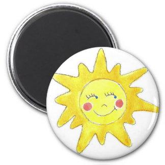 Sunshine 6 Cm Round Magnet