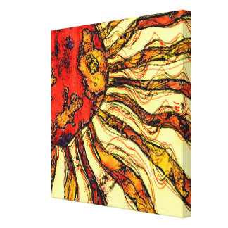 Sunshine Abstract Stretched Canvas Prints