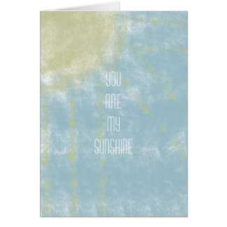 Sunshine Abstract Greeting Card