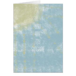 Sunshine Abstract Greeting Card