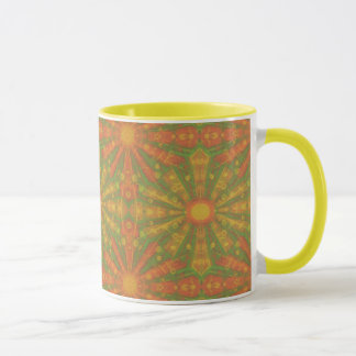 """""""Sunshine"""" abstract pattern in orange and yelllow"""