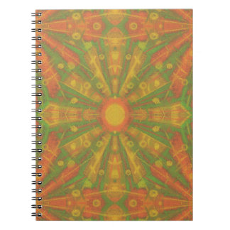 """""""Sunshine"""" abstract pattern in orange and yelllow Spiral Notebook"""