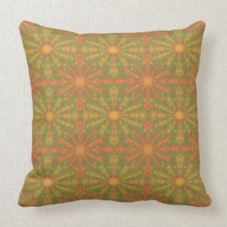 """""""Sunshine"""" abstract pattern in orange and yelllow Throw Cushions"""