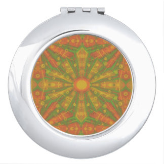 """Sunshine"" abstract pattern in orange and yelllow Vanity Mirrors"