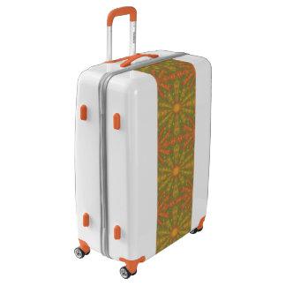 """Sunshine"" abstract pattern, orange and yelllow Luggage"