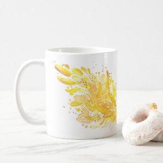 Sunshine Abstract Watercolor Coffee Mug