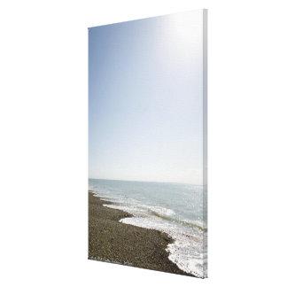 Sunshine and beach canvas print