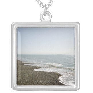 Sunshine and beach silver plated necklace