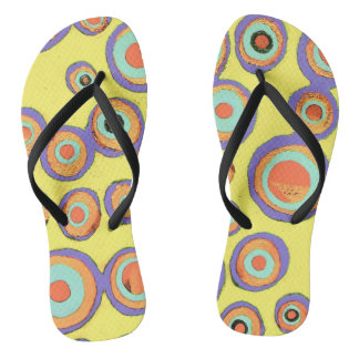 Sunshine and Circles Flip Flops