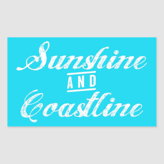 Sunshine and Coastline Rectangular Sticker