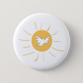 Sunshine and Dove 6 Cm Round Badge
