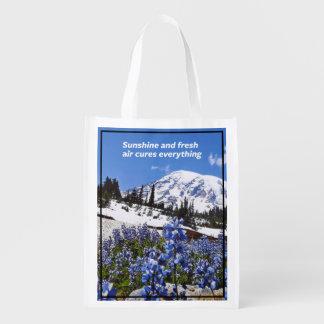 Sunshine and Fresh Air Reusable Grocery Bag