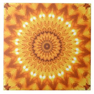 Sunshine and Happiness Mandala Tile - Large