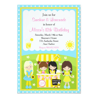 Sunshine and Lemonade Birthday Card