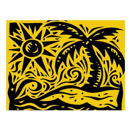 Sunshine and Palm Trees Postcard