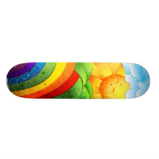 Sunshine and Rainbows Skate Board Deck
