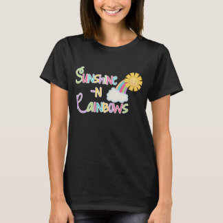 Sunshine and Rainbows word art t-shirt