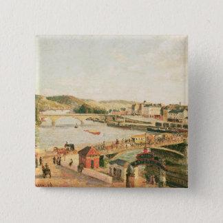 Sunshine at Rouen, 1896 (oil on canvas) 15 Cm Square Badge