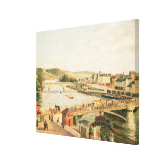 Sunshine at Rouen, 1896 (oil on canvas) Stretched Canvas Print