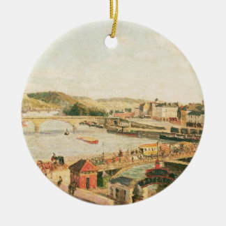 Sunshine at Rouen, 1896 (oil on canvas) Christmas Ornament