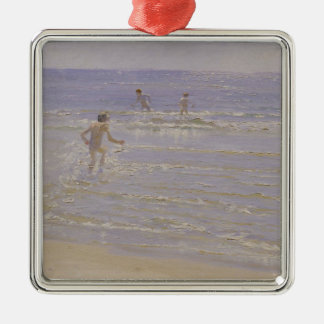 Sunshine at Skagen: Boys Swimming, 1892 Christmas Ornament
