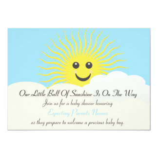 Sunshine Baby Shower 13 Cm X 18 Cm Invitation Card