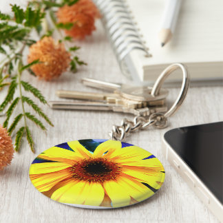 Sunshine Basic Button Keychain