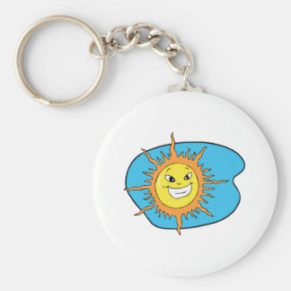 Sunshine Basic Round Button Key Ring