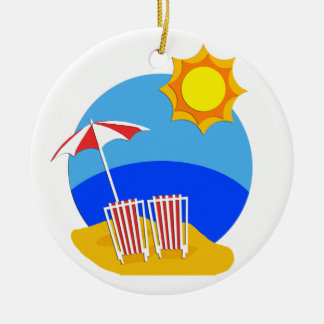 Sunshine Beach Day Christmas Ornament