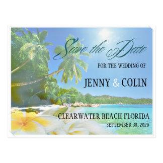 Sunshine Beach Photo Save The Date Postcard