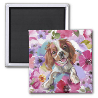 'Sunshine' Blenheim cavalier dog art magnet