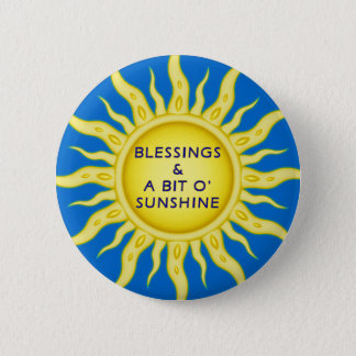 Sunshine Blessings Button