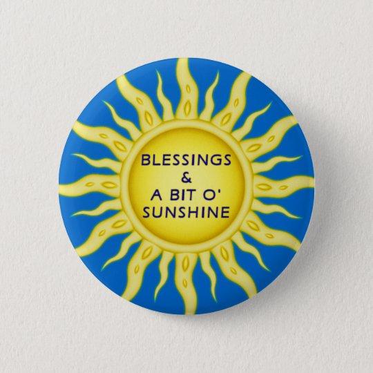 Sunshine Blessings Button