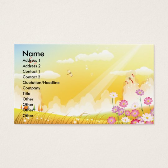 Sunshine Business Card