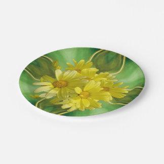 Sunshine Celebration Daisies 7 Inch Paper Plate