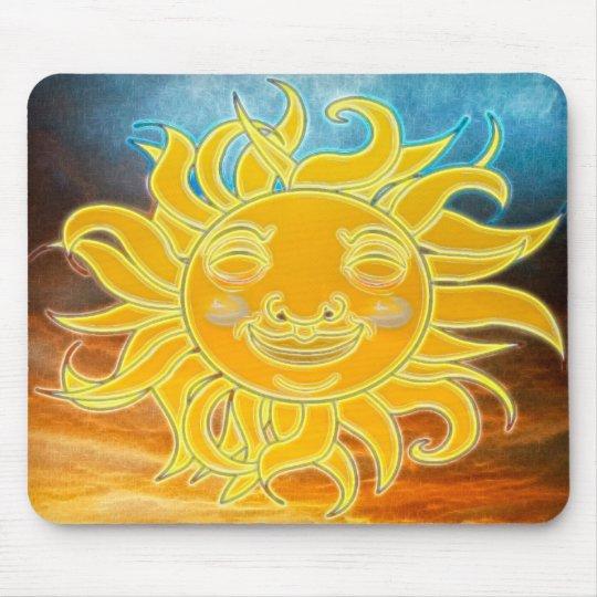 Sunshine Celetial Sun New Age Mouse Mat