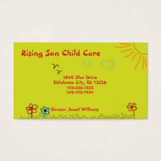 Sunshine Child Care Business Card