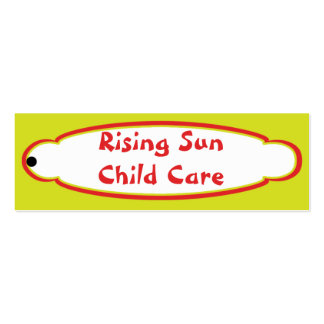 Sunshine Child Care Hang Tag Pack Of Skinny Business Cards