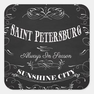 Sunshine City-Saint Petersburg-Always in Season Square Stickers