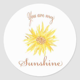 Sunshine Classic Round Sticker