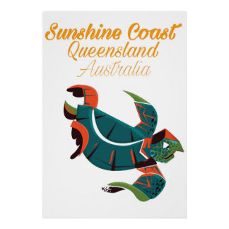 Sunshine Coast Queensland Australia Travel poster